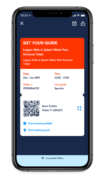 Get Your Guide app